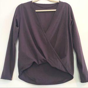Lululemon long sleeve drop front top